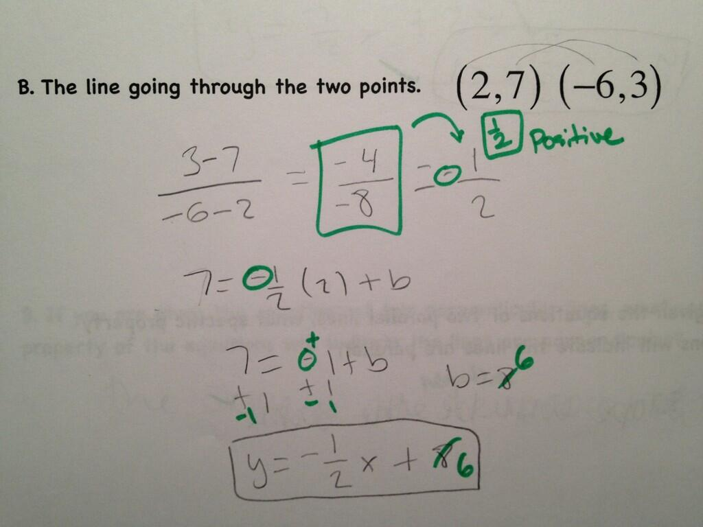 slope and division of negative numbers  u00ab math mistakes
